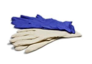 Rubber glove with inner glove, Large