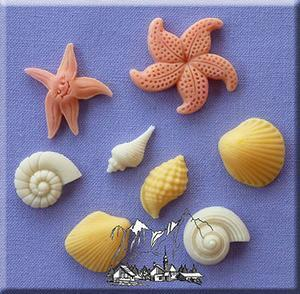 Shells and Starfish silicone mould