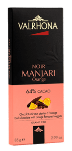 Valrhona Tablette MANJARI ORANGE 64% 85G