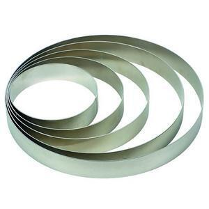 Set of Cake Rings, aluminium, 5 pieces