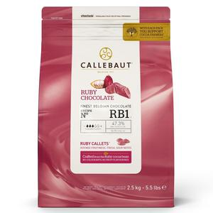 Callebaut Belgium chocolate, 47,3% Ruby, 200 g.
