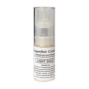 Light Gold powder puff glitter dust 10 g.