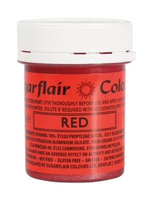 Glitter Food Paint - Red 35 g.