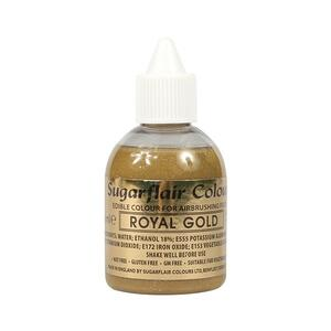 Glitter Royal Gold airbrush color fra Sugarflair, 60 ml.
