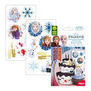 14 pc. Sugar Wafer Muffin Topper Frozen II approx 3-4 cm. dia