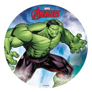 Hulk Avengers sugar wafer picture, 20 cm.