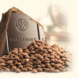 Callebaut couverture chocolate, 33,6% Milk, 2,5 kg.