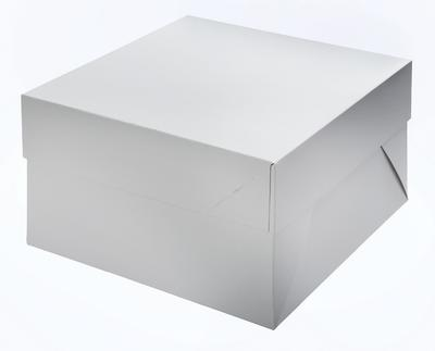 White Cakebox, 25 x 25 x 15 cm. 5 pc.