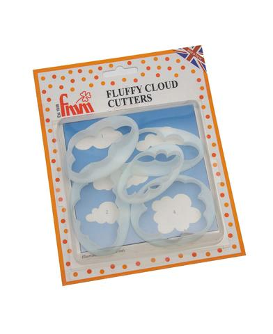 set of 5 clouds