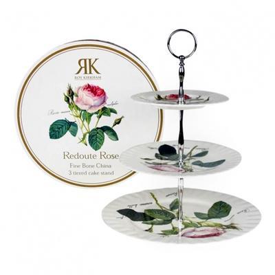 Redoute Roses Opsats Etagere Kagefad med Roser 3 etager