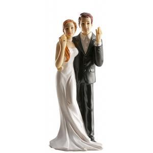 WEDDING FIGURINES RINGS 16CM