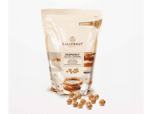 Salted caramel chocolate crisp pearls 50 g.