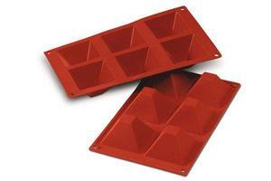 6 pc. Pyramids silikone baking form
