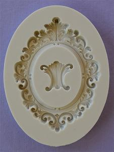 Oval Baroque Frame silicone mould