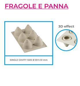 3D silicone mould, mini FRAGOLE E PANNA