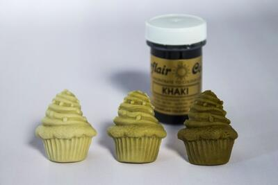 Khaki icing color 25 g.