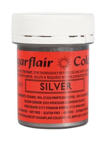 Glitter Food Paint - Silver 35 g.