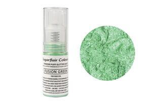 Fusion Green powder puff glitter dust 10 g.