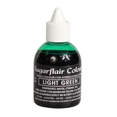 Light Green airbrush color fra Sugarflair, 60 ml.