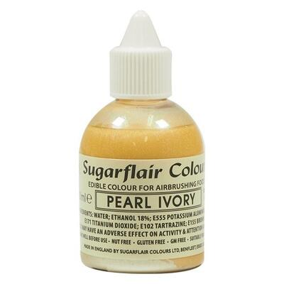 Glitter Pearl Ivory airbrush color fra Sugarflair, 60 ml.