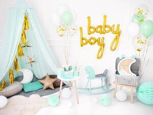 1 pc. Foil balloon Baby in gold colour, size approx. 73.5 x 75.5 cm