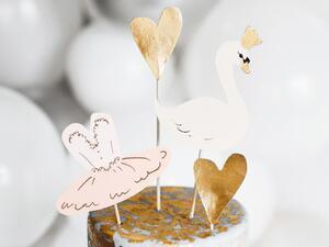 4 pc. Cake toppers Lovely Swan