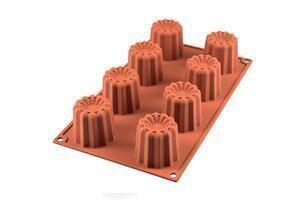 8 pc. Canellé silicone baking form