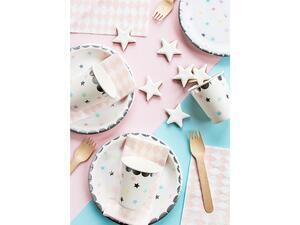 6 pc. Paper cups Unicorn - Stars, hold up to 180 ml