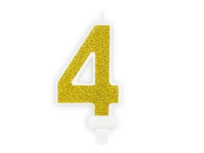 number candle 4, Gold