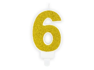 number candle 6, Gold