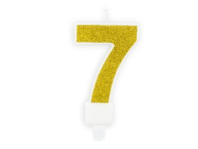 number candle 7, Gold