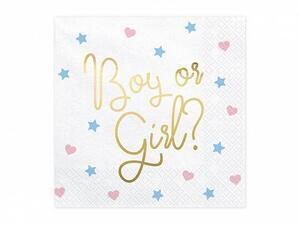 20 pc. Napkins - Boy or Girl, 16,5 x 16,5 cm.