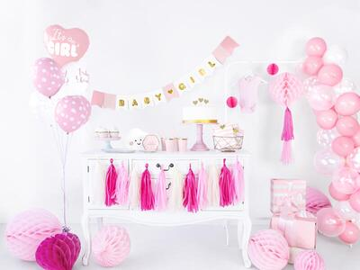 100 pc. Strong Balloons 23cm, Pastel Baby Pink