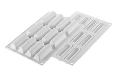 12 pc. mini cylinders 30 ml. silicone baking mat