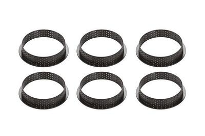 6 pc. Kit Tarte Ring Round Ø80 mm