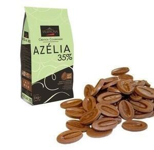 Valrhona Azélia 35% chocolate 3 kg. bag.