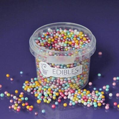 Shimmer pearls 4 mm. Multi 80 g.