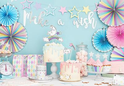 1 pc. Banner Unicorn - Make a wish, 15 x 60 cm