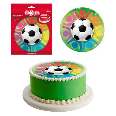 Football, sugar wafer picture, 20 cm.