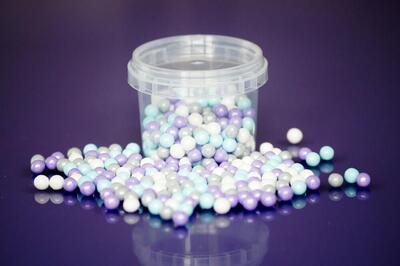 Large Sugar Pearls 7mm - Frozen Mix 80 g.