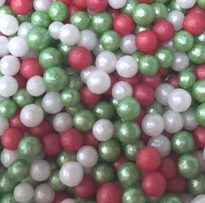 shimmer christmas pearls 4 mm., 100 g.