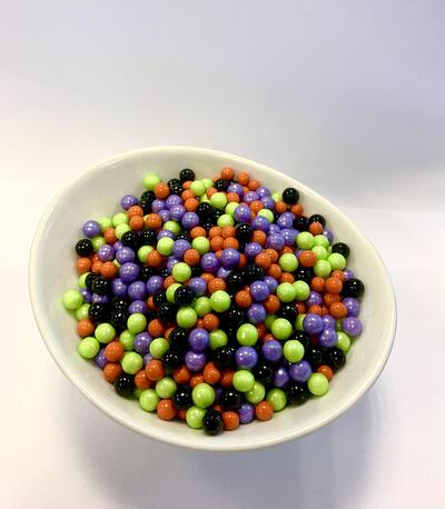 Large Sugar Pearls 7mm - Halloween mix 80 g.