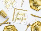 20 pc. Napkins Happy New Year, white, 16,5x16,5cm