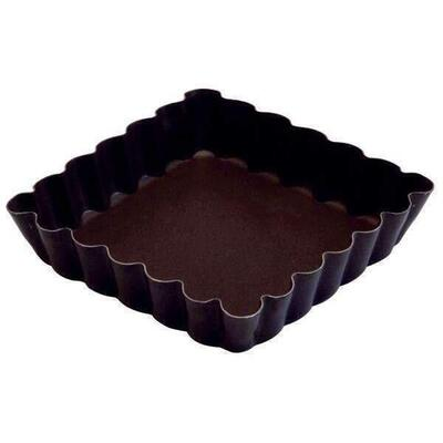 Gobel Square Fluted Tartlet Mould 10x10cm.