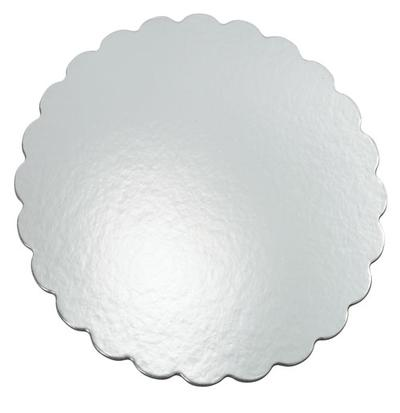 Silver round cake platters, 30 cm  8 pieces.