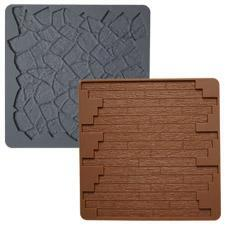 Stone/Wood 2-Pc. Silicone Texture Mat Set
