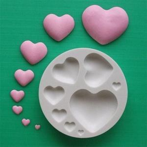 Plain Hearts silicone mould