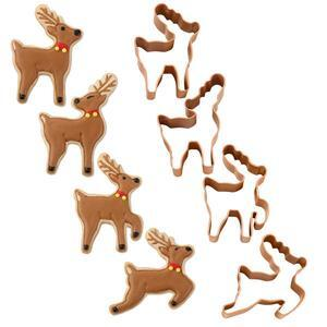 Wilton Cookie Cutter Set Mini Reindeer, 4 pc.