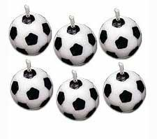 Soccer Candles,  6 pieces