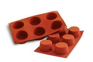 6 pc. medium muffin silicone mould